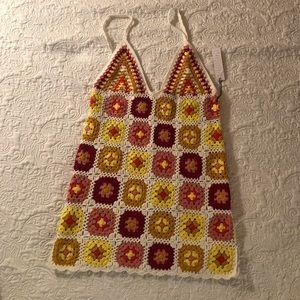 Forever 21 crochet swim cover up mini dress OBO